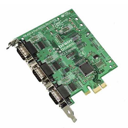 Brainboxes PX-431 PCIe to 3 Port RS-232C Standard Height.